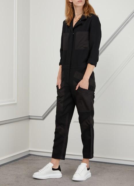 Alexander McQueenBaskets en cuir détail velours