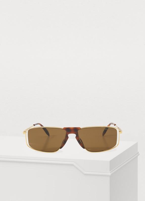 Alexander McQueenSculpted frame sunglasses