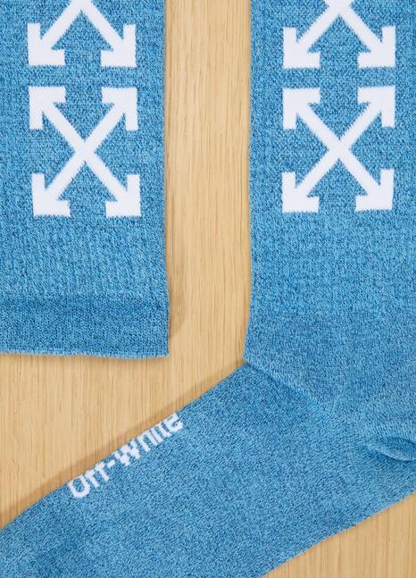 OFF WHITEChaussettes logo bleues
