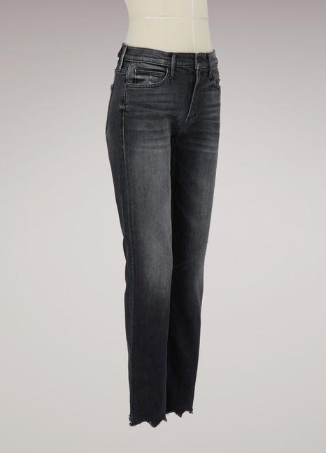 MotherJean droit The Flirt avec poches arrières effilochées