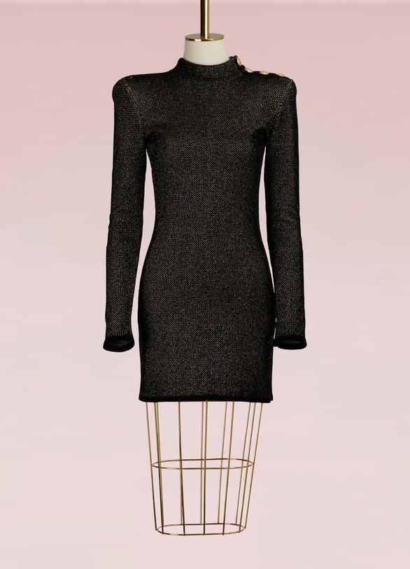 BalmainShort knit dress