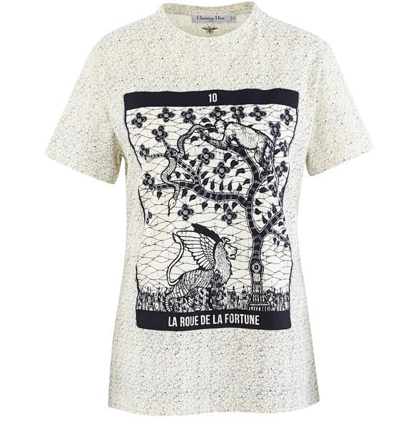 DIORT-shirt à imprimé Tarot Fortune
