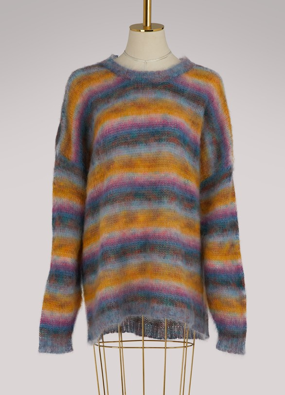 Chloé Mohair oversize striped sweater