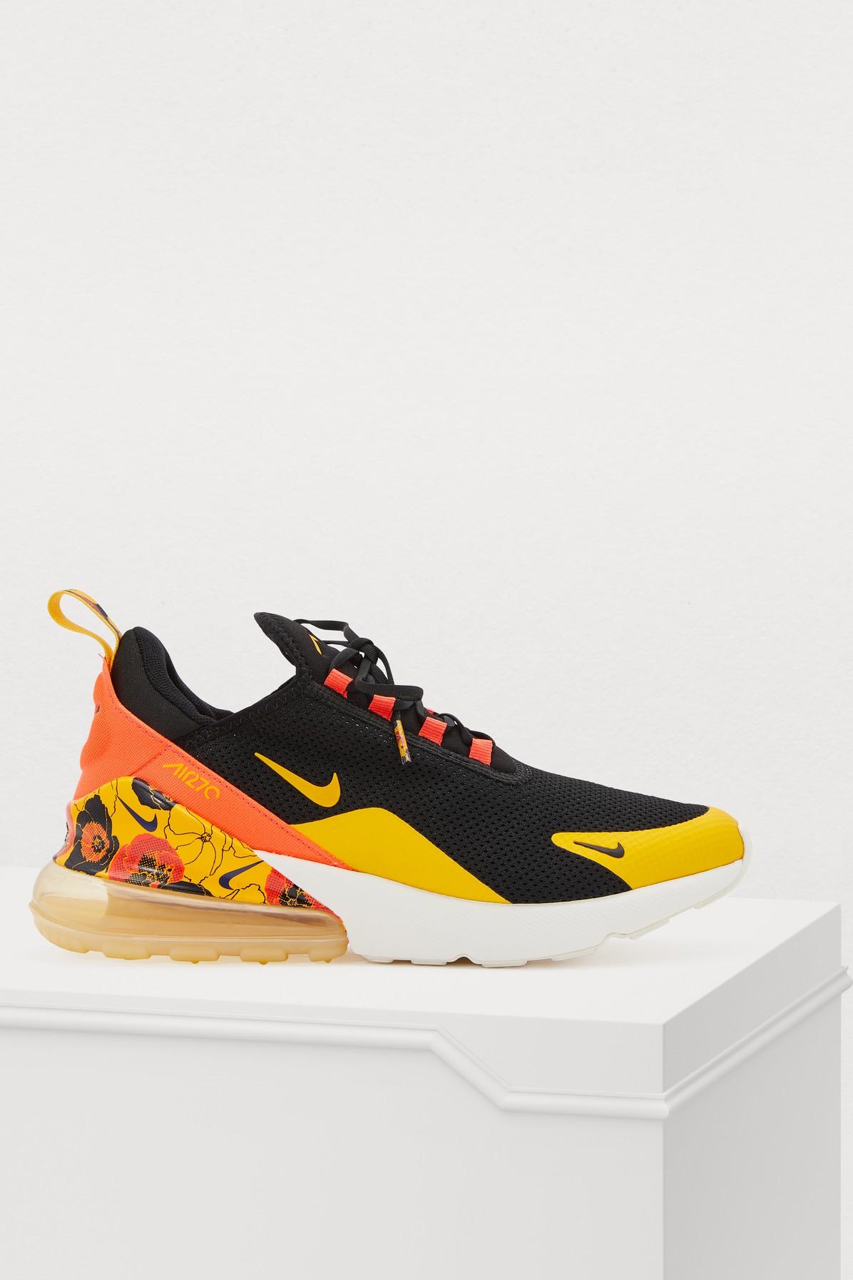 Nike Air Max 270 Black University Gold Bright Crimson AR0499