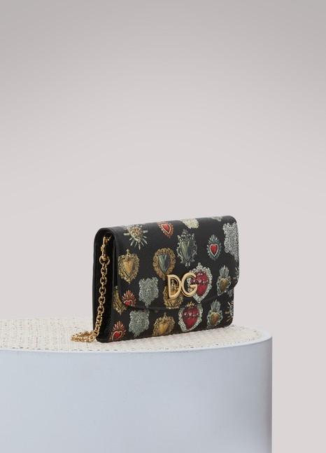 Dolce & GabbanaPortefeuille à chaine imprimé Hearts