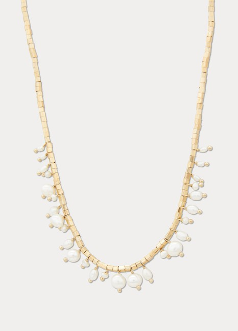 5 OctobreLipp silver gilt and freshwater pearl necklace