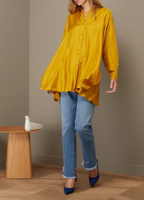 Forte_Forte Long silk shirt