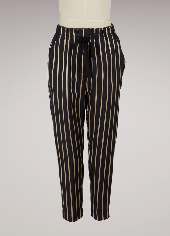 Forte_Forte Striped draped pants