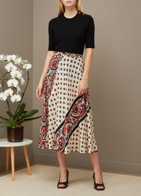 Red Valentino Bandana print long skirt