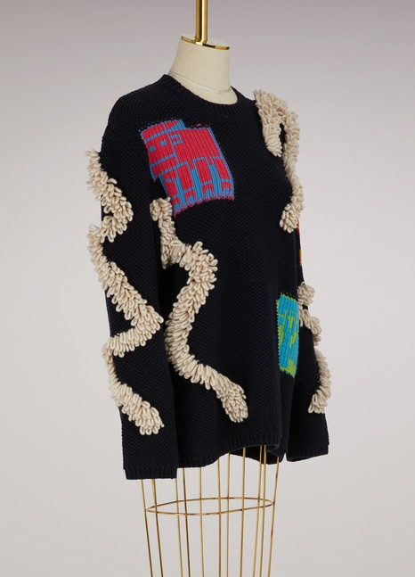 Peter Pilotto Oversize heavy knit sweater