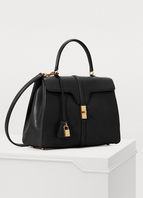38c03970b074 ... Celine 16 medium satiny calfskin leather bag ...