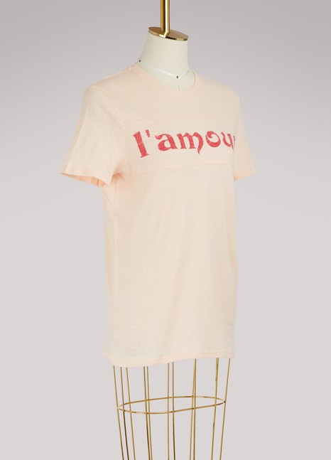 "Zoe Karssen T-shirt coupe loose ""L'Amour"""