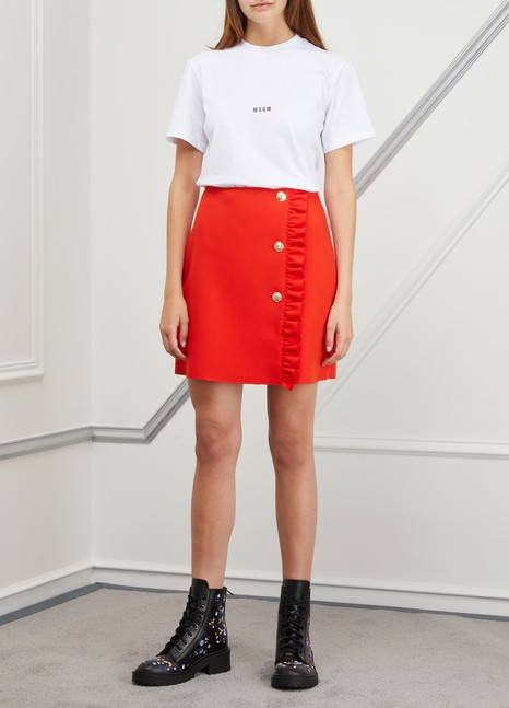 MSGM Short skirt with ruffles