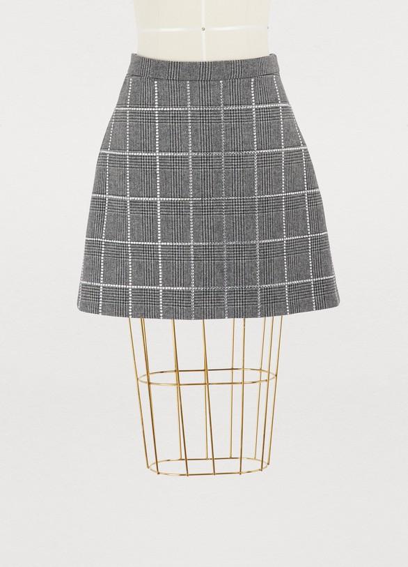 Miu MiuWool Prince Of Wales skirt
