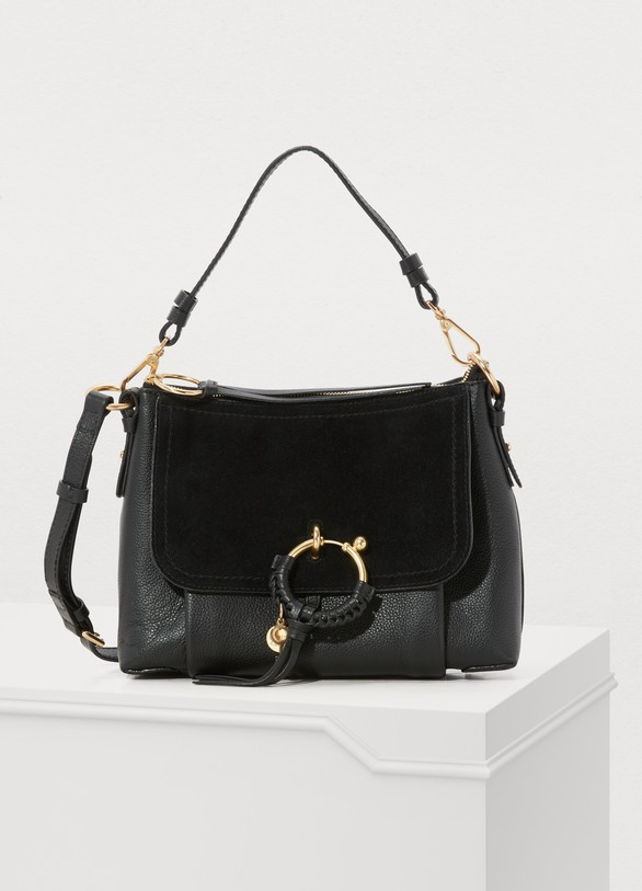 See by Chloé. See by Chloé Leather and suede Joan shoulder bag e39b45bb15ee9