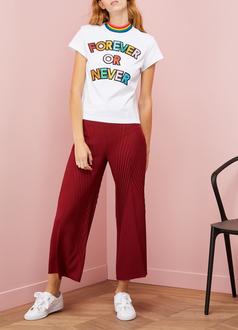 Mira Mikati Cotton Forever or never t-shirt