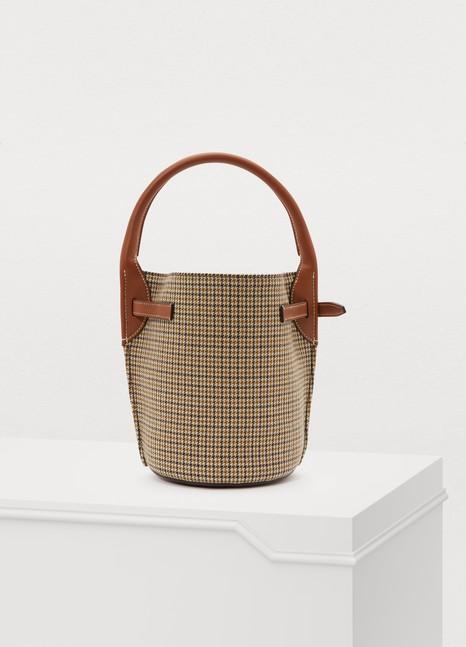 CELINENano Big Bag bucket bag in tweed and smooth calfskin