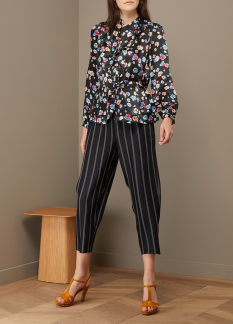Paul & Joe Menuet floral-print silk blouse