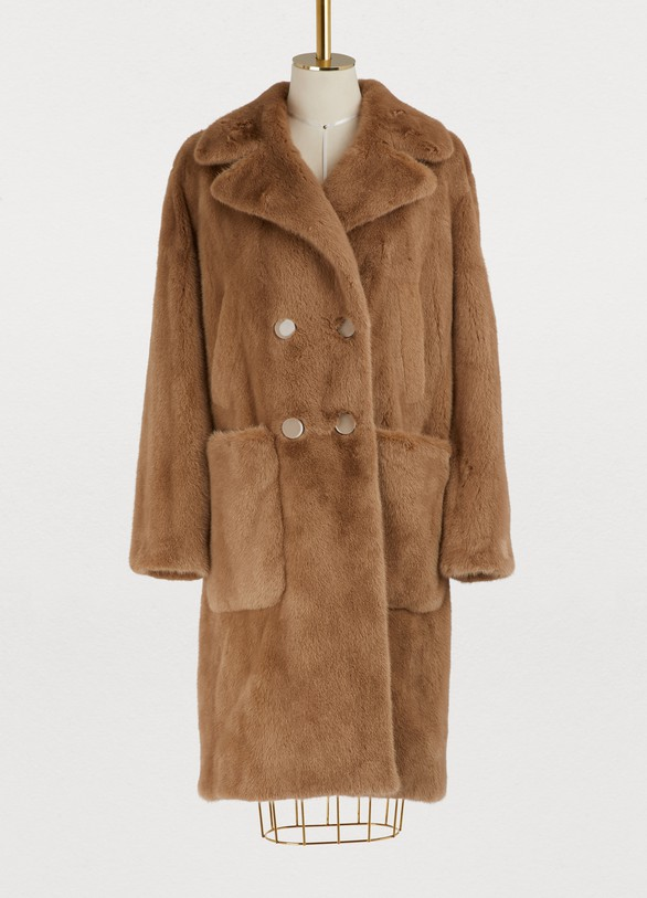Yves Salomon Mink fur coat