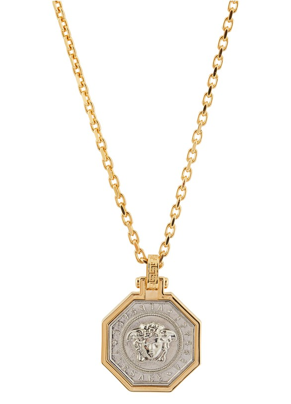 VERSACEMedusa octagonal pendant necklace