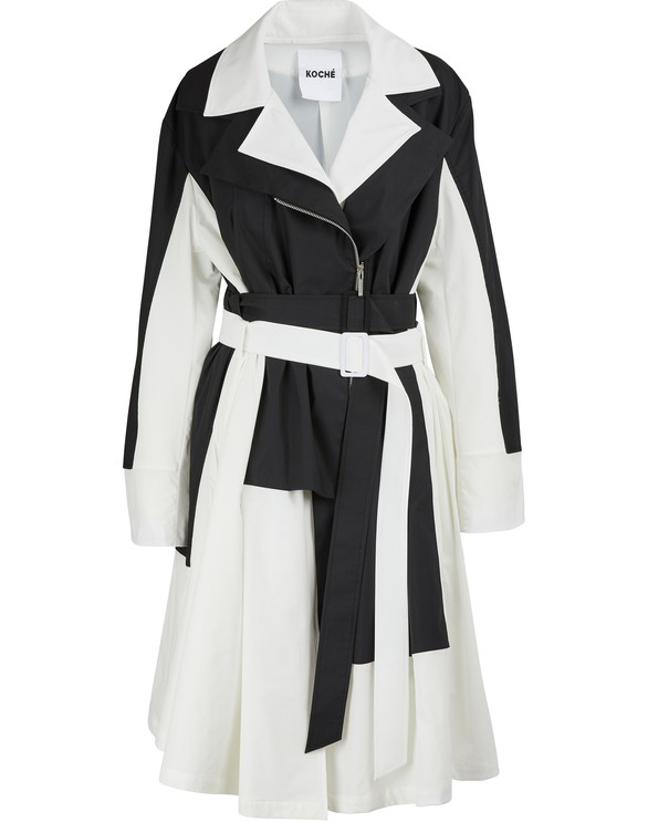 KOCHÉDeconstructed trench coat