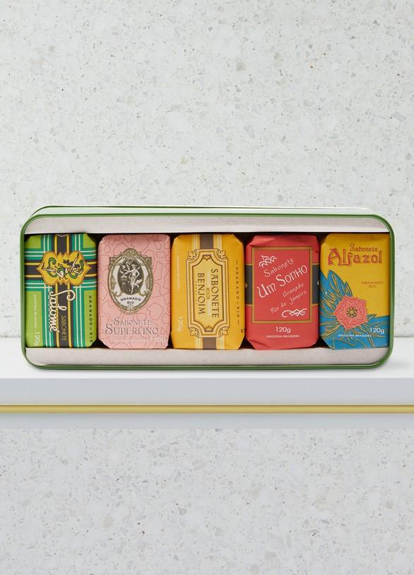 GranadoCoffret assortiment des 5 savons vintage