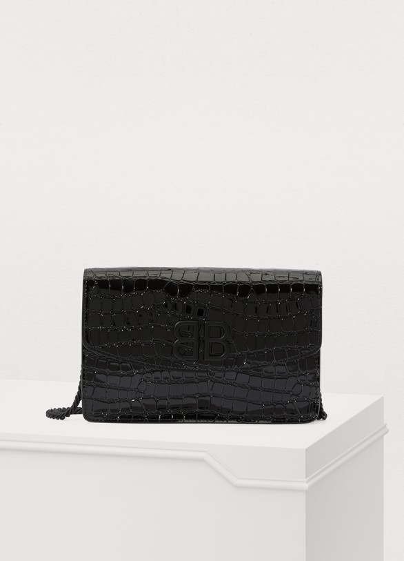 Balenciaga BB wallet with chain strap