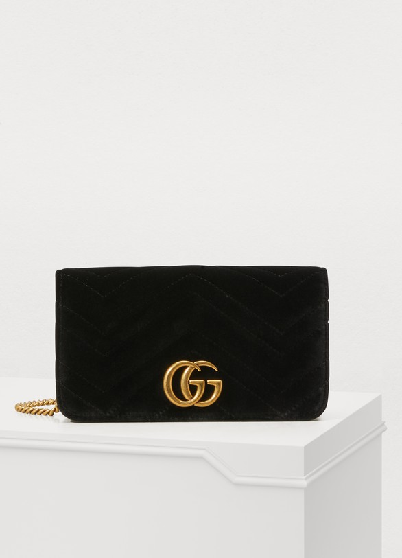 1c8ace591b3 Women s GG Marmont velvet supermini bag