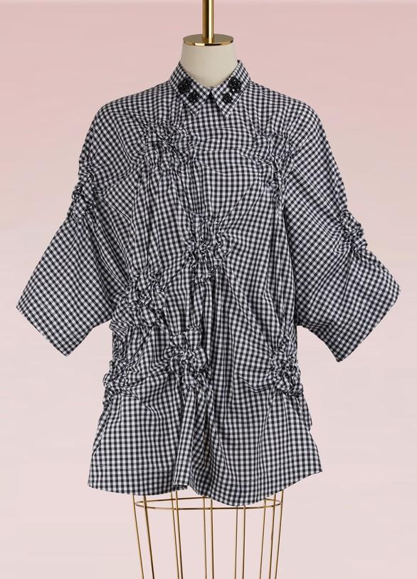 Simone RochaSmocked Backless Shirt