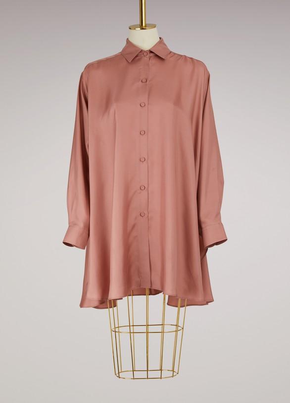 Forte_ForteLong silk shirt