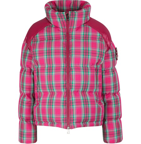 Moncler Crystal-Embellished Plaid Twill And Shell Down Jacket In Multicolor