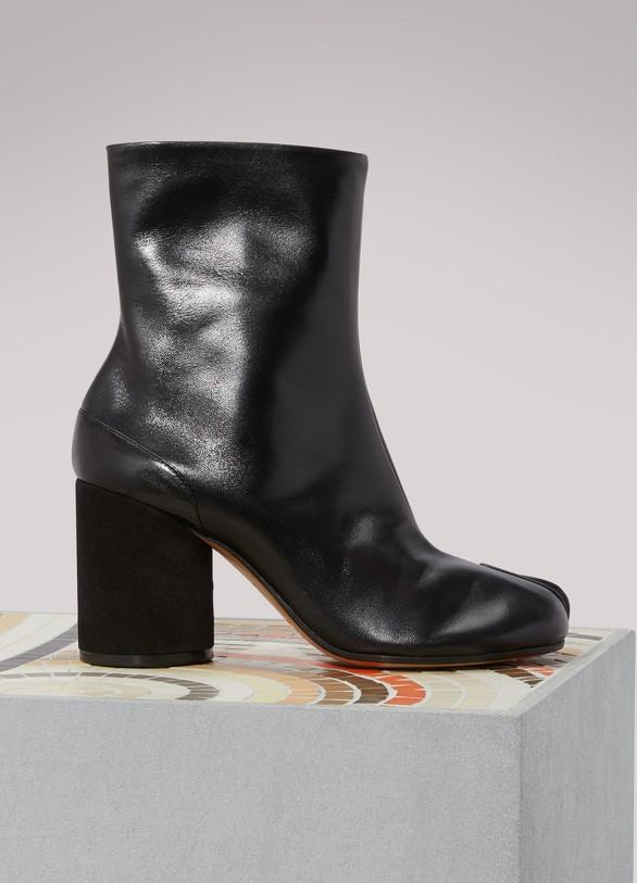 Maison Margiela Leather Ankle Boots Gr. EU 42 Z7nuE8A