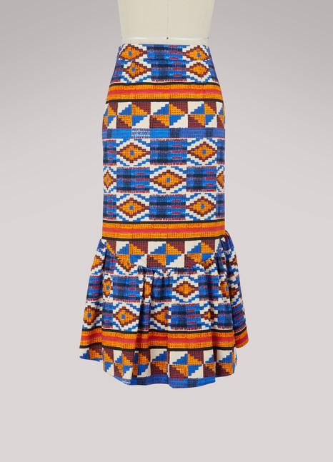 Stella JeanPatterned skirt with ruffles