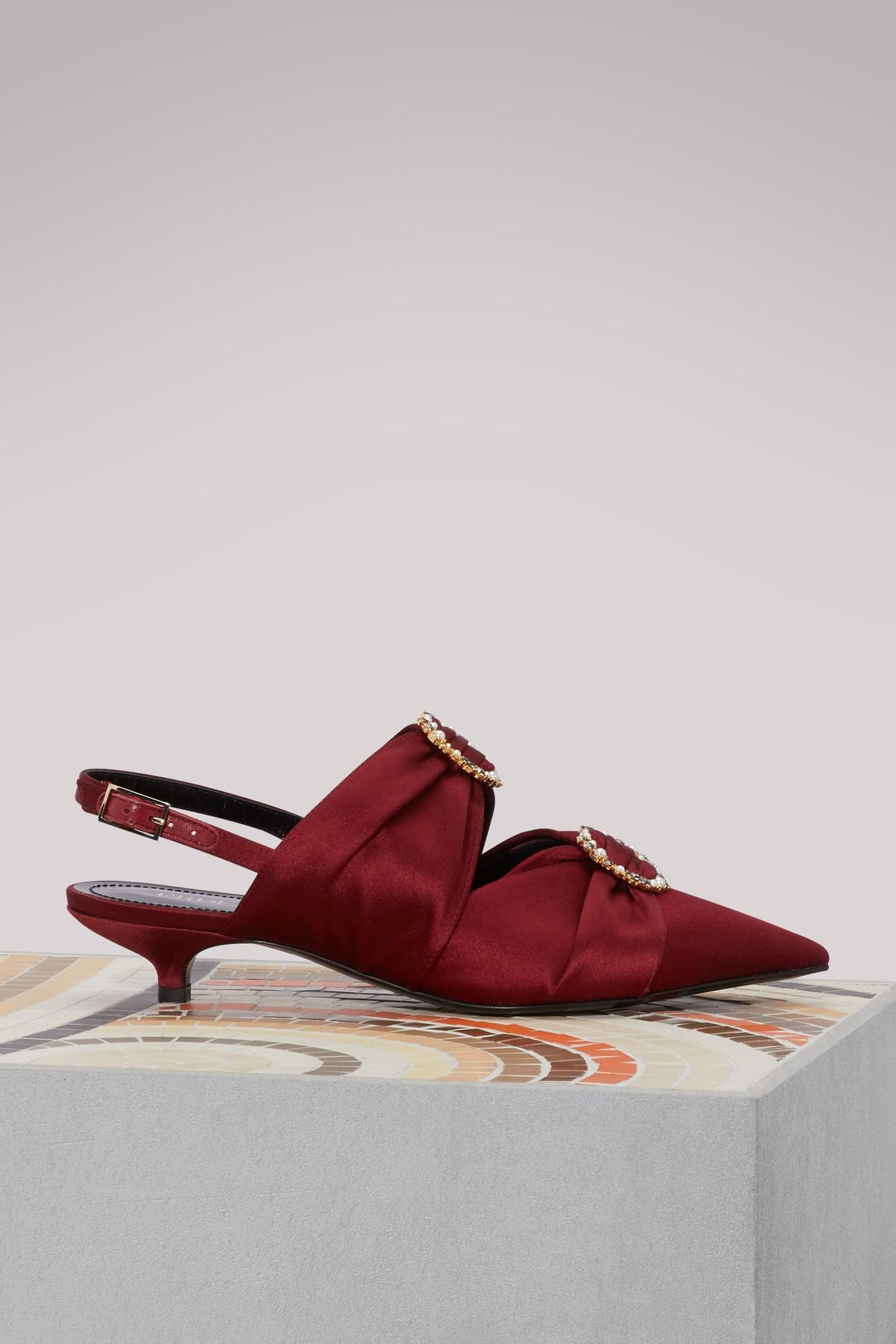 Sandales en satin Chelsea