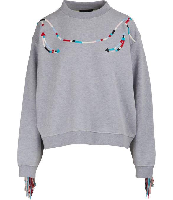 ALANUIFringed sweatshirt