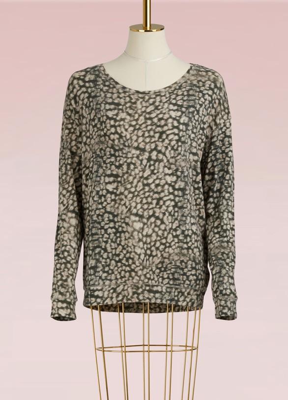 MAJESTIC FILATURESTop léopard en coton et cachemire