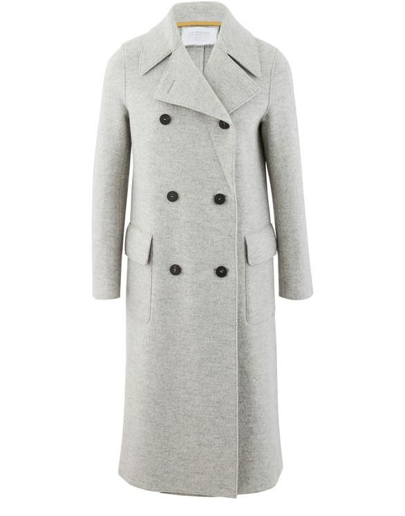HARRIS WHARF LONDONMilitary coat in boiled wool