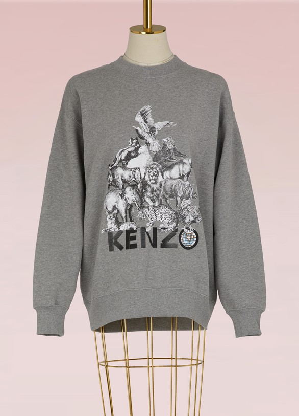 Kenzo Sweat Animals en coton