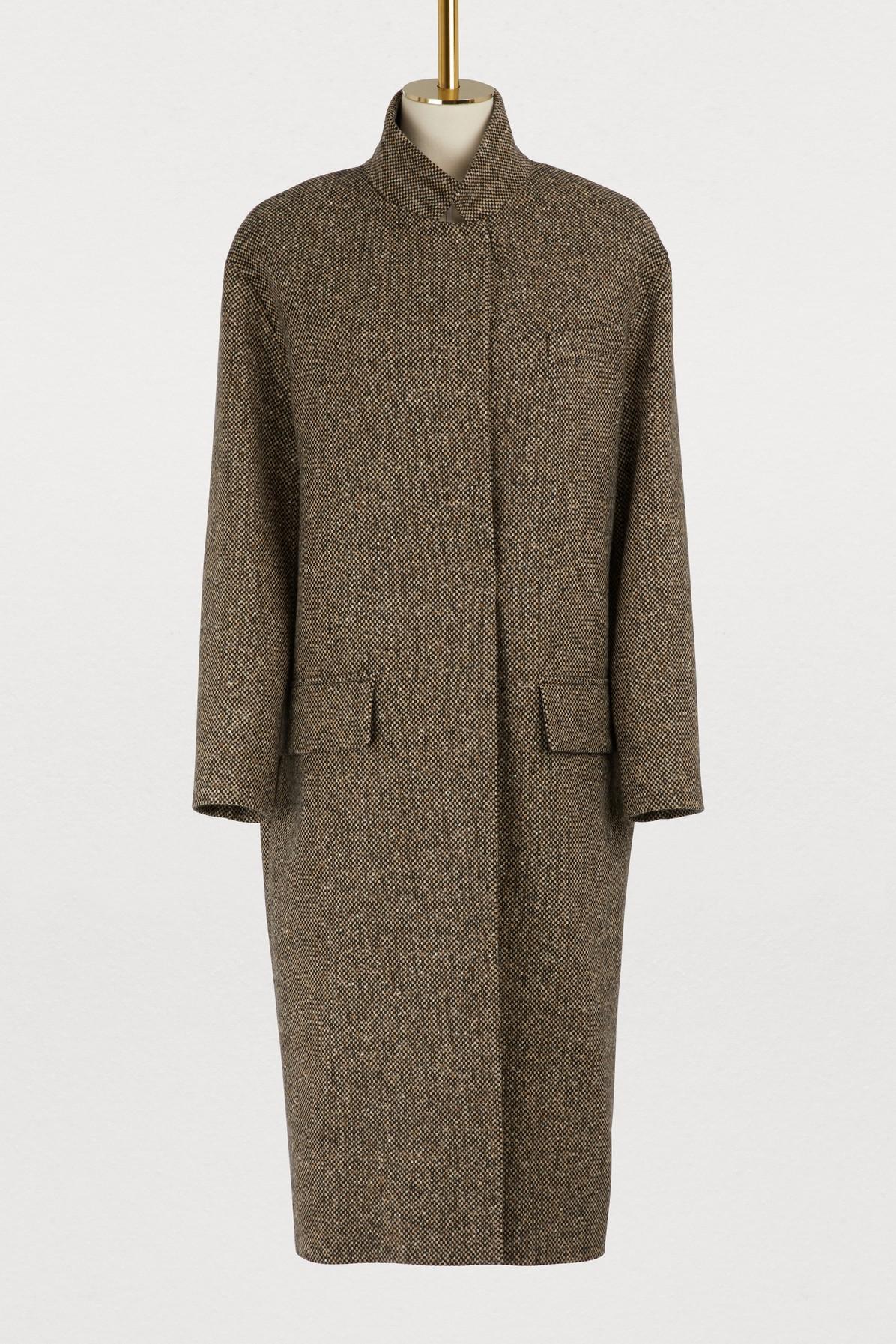 Manteau long en tweed Detroit