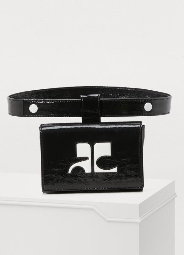 CourrègesVinyl belt bag