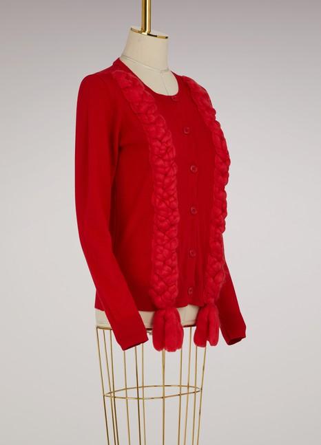 Simone RochaCardigan en laine soie et cachemire