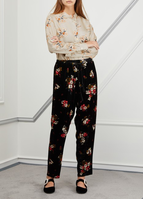Forte_ForteFloral print velvet pants