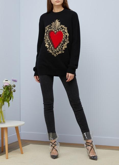 Dolce & GabbanaPull en laine Big Heart