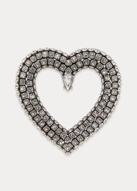 BalenciagaBoucles d'oreilles Heart avec strass