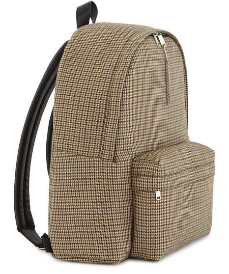 CELINEMedium-sized calfskin and canvas backpack