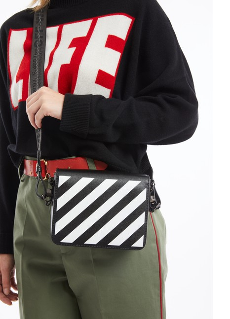 OFF-WHITE Diag Flap shoulder bag
