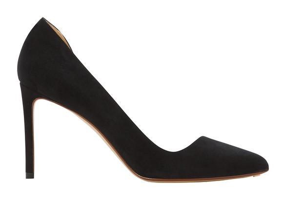 FRANCESCO RUSSOAsymmetric suede and PVC heels