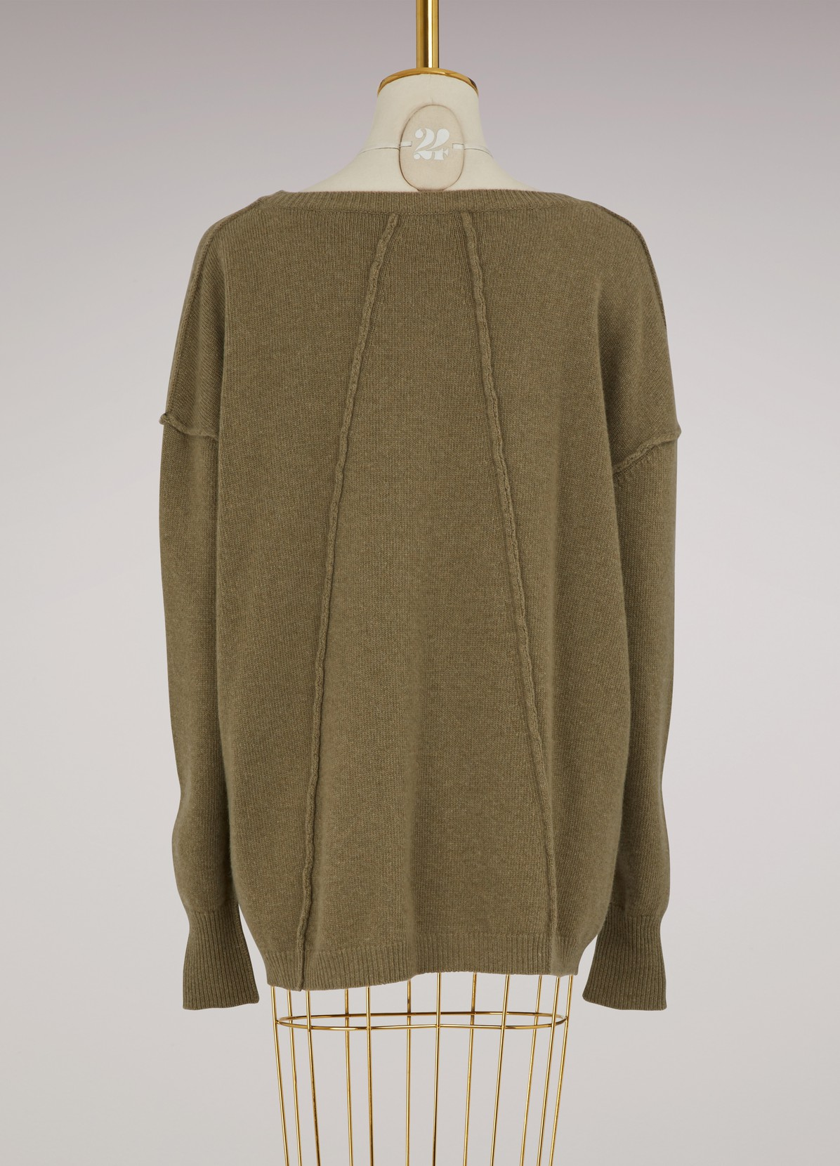 Oversized Sweater with stitching | ROBERTO COLLINA | 24 Sèvres