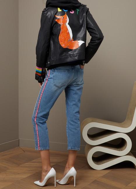 Mira MikatiFox leather jacket