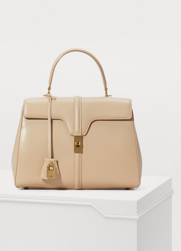 479b45560460 Celine. 16 medium satiny calfskin leather bag